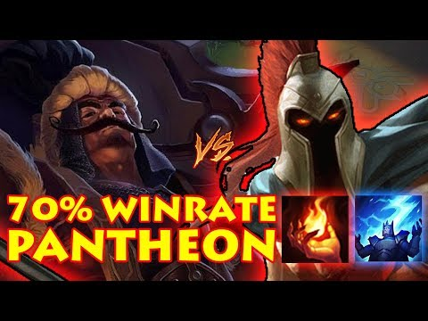 HOW TO LANE TRYNDAMERE VS PANTHEON TOP: 70% WINRATE DIAMOND PROMOS PANTHEON [Patch 7.19]