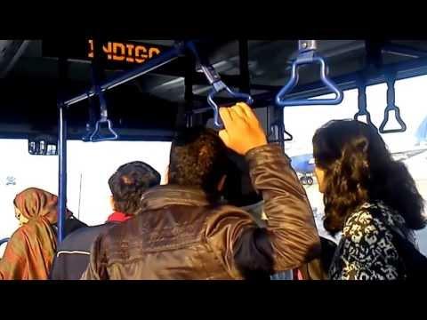 BUS RIDE FROM TERMINAL 1 D TO PLANE(INDIGO)