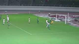 2014.08.10 第26節 FC岐阜対愛媛FC ヘニキ選手の同点ゴール