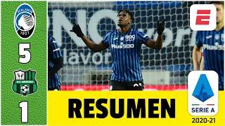 Atalanta 5-1 Sassuolo. ¡Colombia brilla! Doblete de Duván Zapata y golazo de Luis Muriel | Serie A