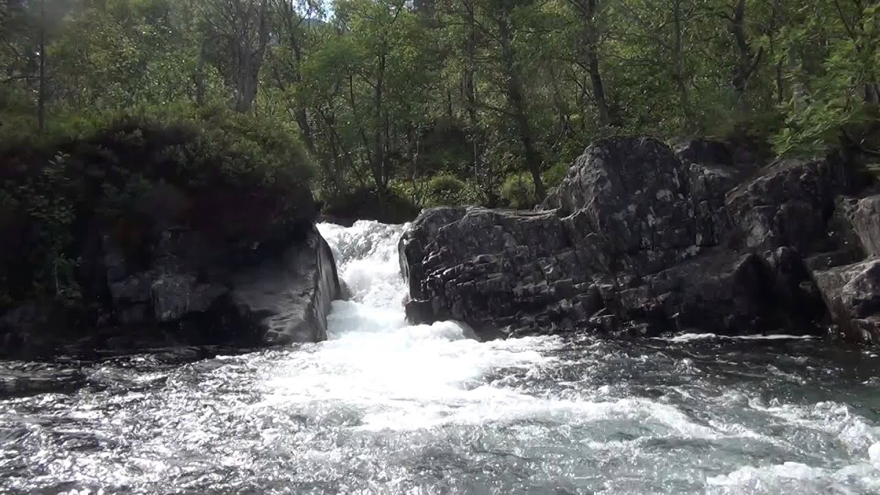 Relaxing small waterfall - 1 hour HD - YouTube