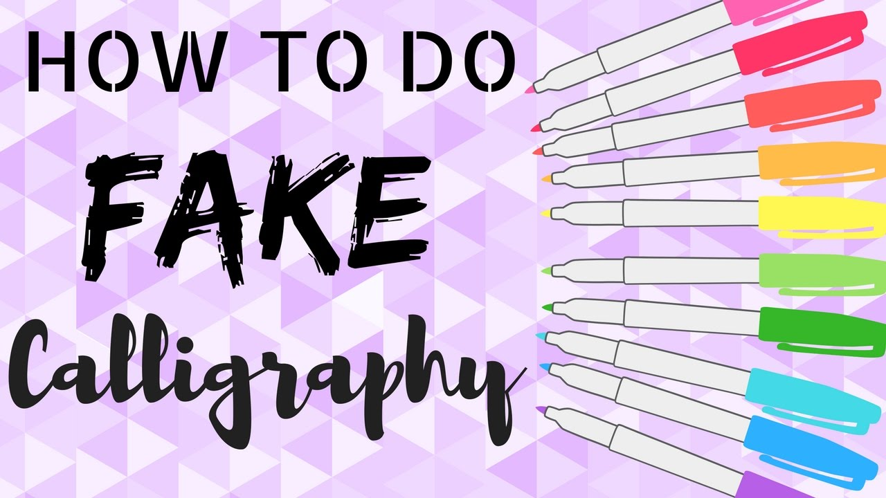 How To Have Cute Handwriting Calligraphy Youtube