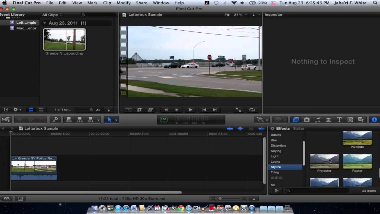 Final Cut Pro X - Widescreen Letterbox Tutorial - YouTube