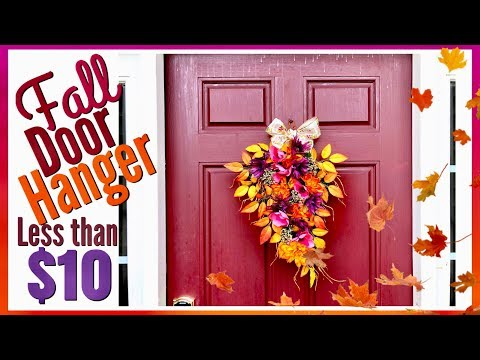 FALL Home Decor | DOOR HANGER | Dollar Tree DIY