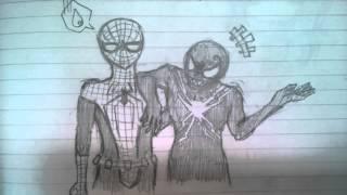 スパイダーマンファンなので描いてみました! チャンネル登録よろしくね!