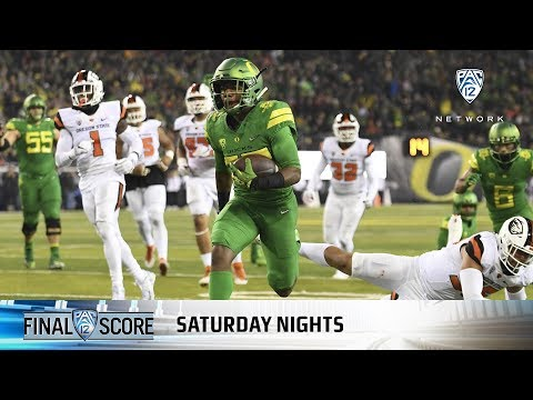 Highlights: Oregon football rolls to big win over Oregon State in 121st Civil War