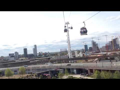 In a cable-car in London