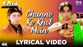 Channe Ke Khet Mein Lyrical - Anjaam | Shahrukh Khan & Madhuri Dixit | Poornima
