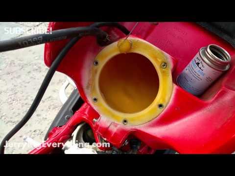 Fixing A Motorcycle Gas Tank Leak Liquid Gasket Application Youtube