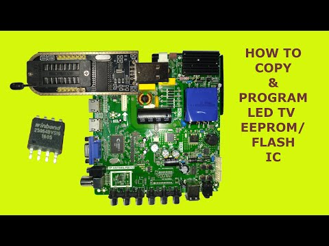 How To Copy LED TV Software// LED TV Flash ic programming//