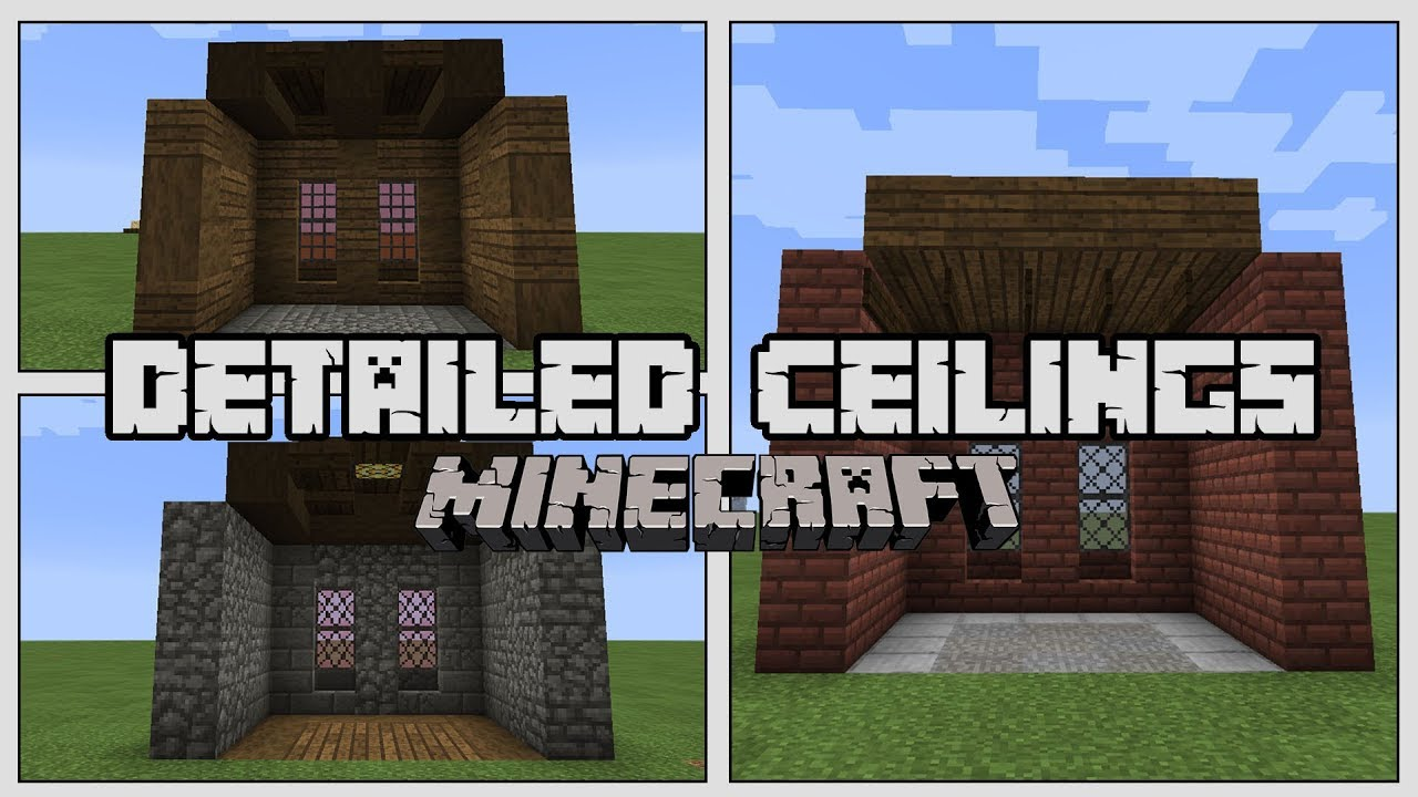 How to Build Detailed Ceilings in Minecraft - YouTube
