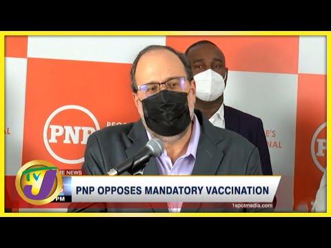 PNP Opposes Mandatory Vaccination   TVJ News - Oct 11 2021