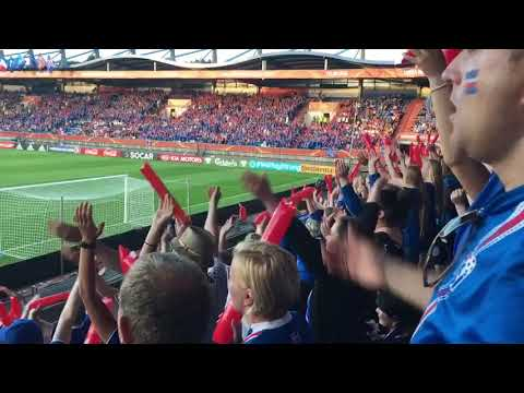 Iceland fans Incredible Celebration During France vs Iceland women's EURO 2017