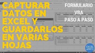formulario de captura en excel que guarda datos en varias hojas usando vba y macros exceleinfo
