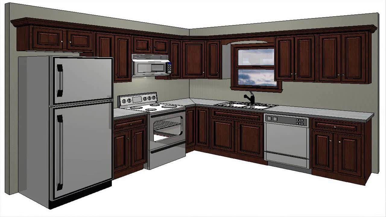 10x10 kitchen design modular wall cabinets room youtube