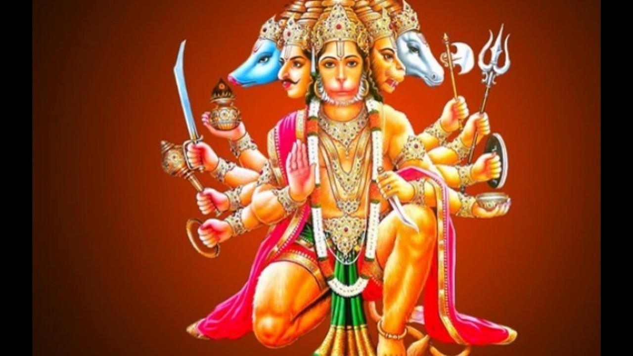 Lord hanuman ji panchmukhi images hanuman ji panchmukhi photos pics pictures wallpapers video - Panchmukhi hanuman image ...