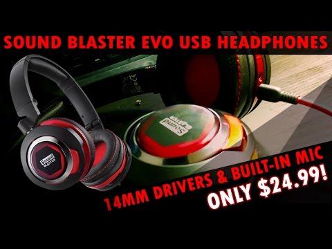 The Sound Blaster Evo - Full Spectrum USB Headphones with Built-In Mic for $25!?