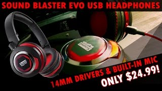 the Sound Blaster Evo - Full Spectrum USB Headphones with Built-In Mic for 25!?