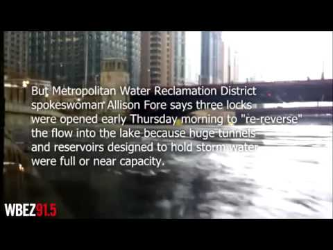 The Chicago River has been temporarily re-reversed to alleviate flooding