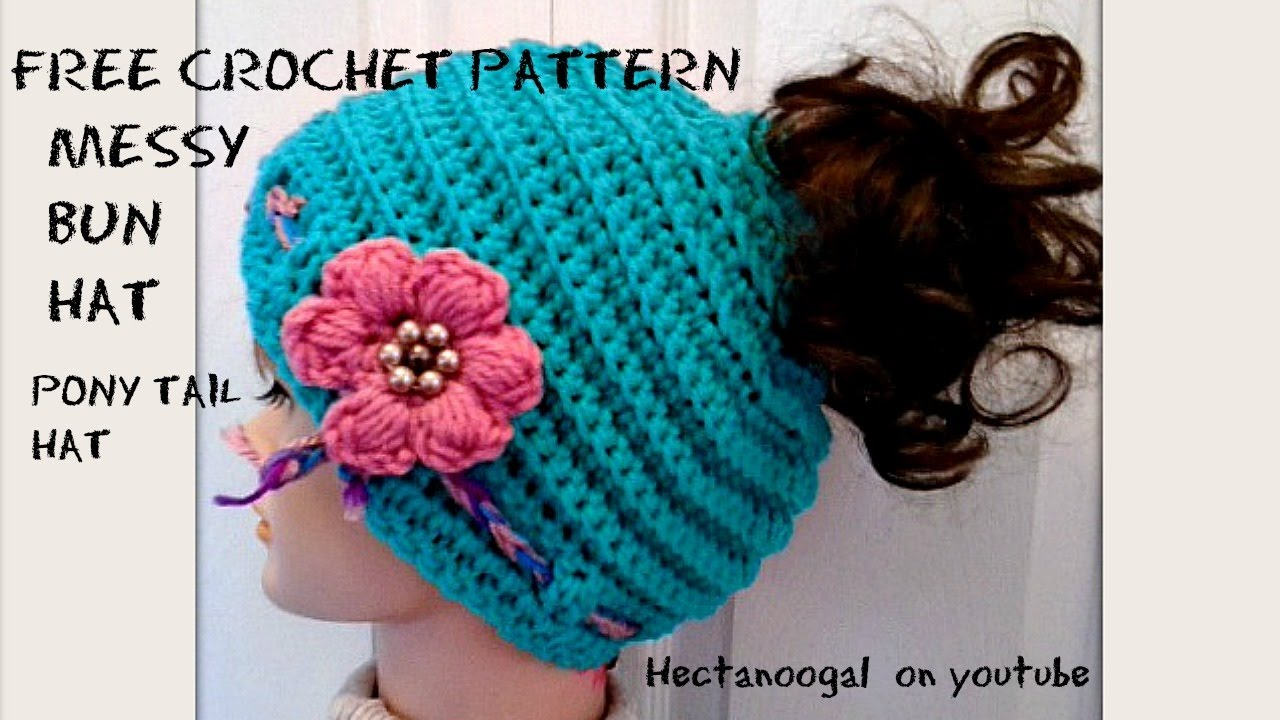 Free Crochet Hat Pattern With Ponytail Hole New Decorating