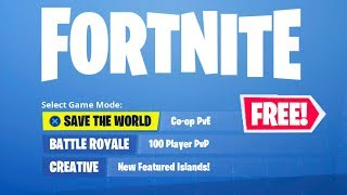 HOW TO GET SAVE THE WORLD FOR FREE IN FORTNITE!