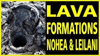 Hawaii Kilauea Volcano Lava Formations at Nohea and Leilani LATT11