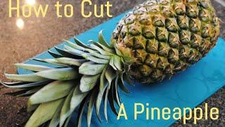 кАК БЫСТРО ОЧИСТИТЬ АНАНАС-HOW TO CUT FRESH PINEAPPLE katvickas98