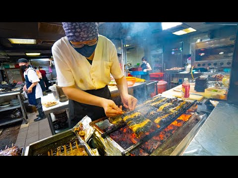 Japanese Street Food - GRILLED EEL BBQ + CHEAP SEAFOOD Omakase!! BEST Japanese Food in Taipei!