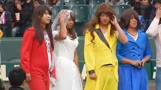 阪神ファン感謝デーの一コマです。 パフォーマンスGPで新人6名が登場し ...