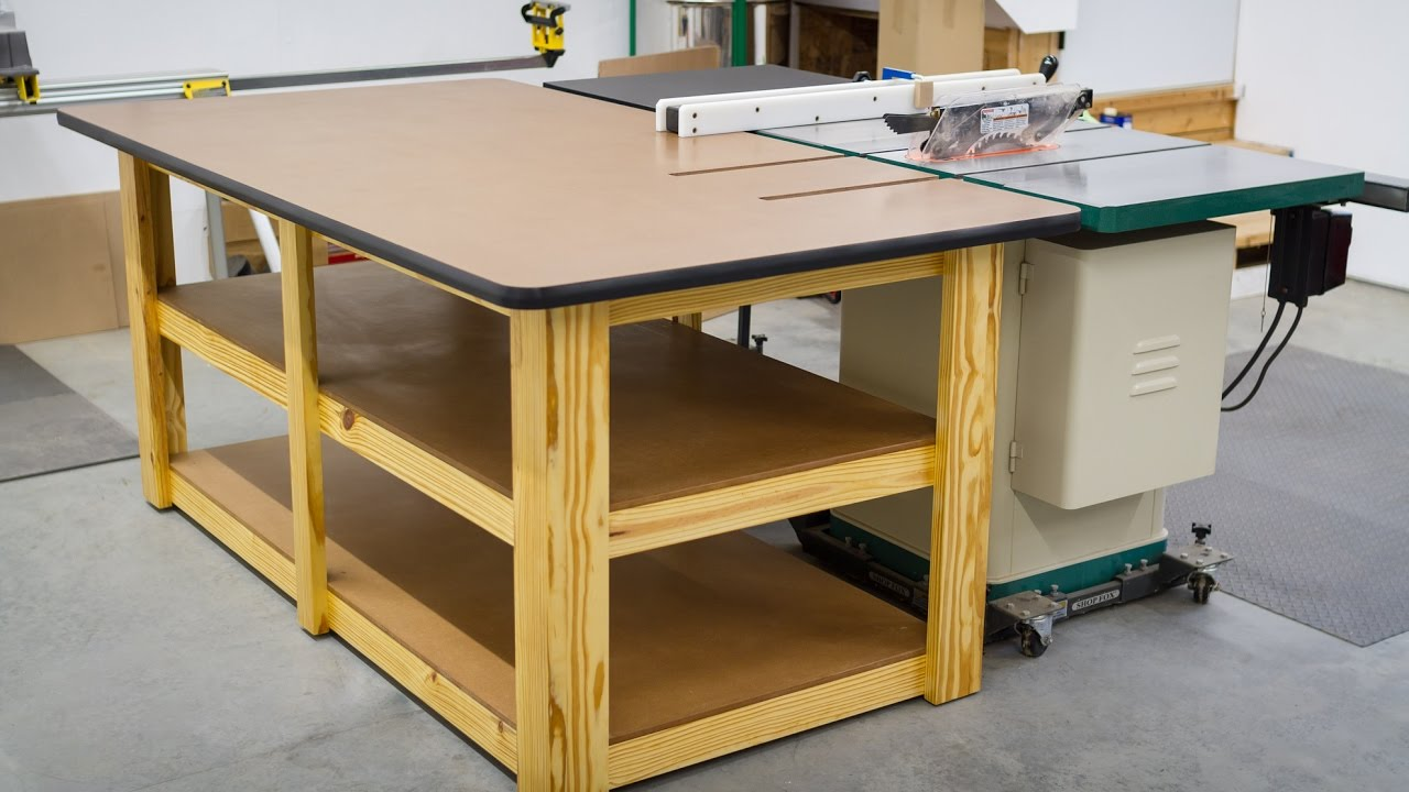 Build A Workbench Outfeed Table Youtube