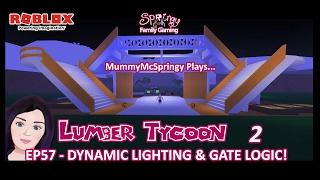 SFG - Roblox - bois Tycoon 2 - EP57 - éclairage dynamique & porte logique!