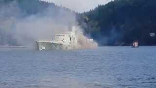 sinking of the hmcs annapolis april 04 2015 hi res