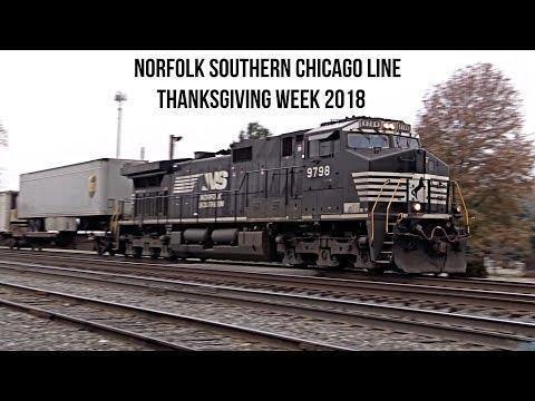 Thanksgiving Week Railroading: Norfolk Southern Chicago Line