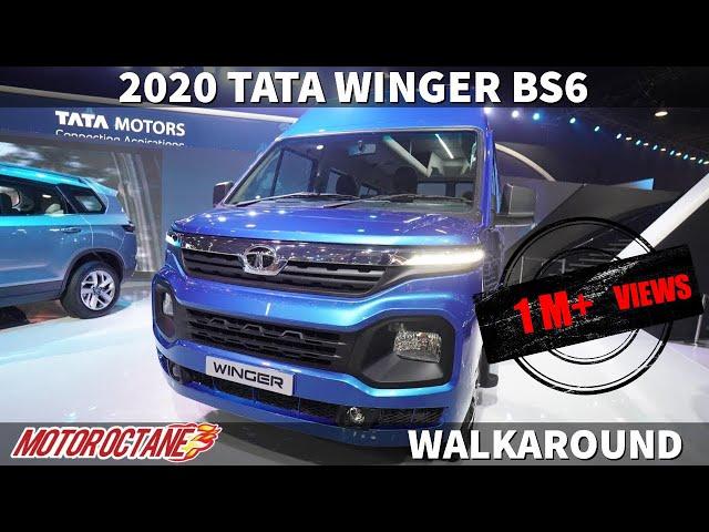 2020 Tata Winger BS6 - Zabardast! Hindi | Auto Expo 2020 | MotorOctane