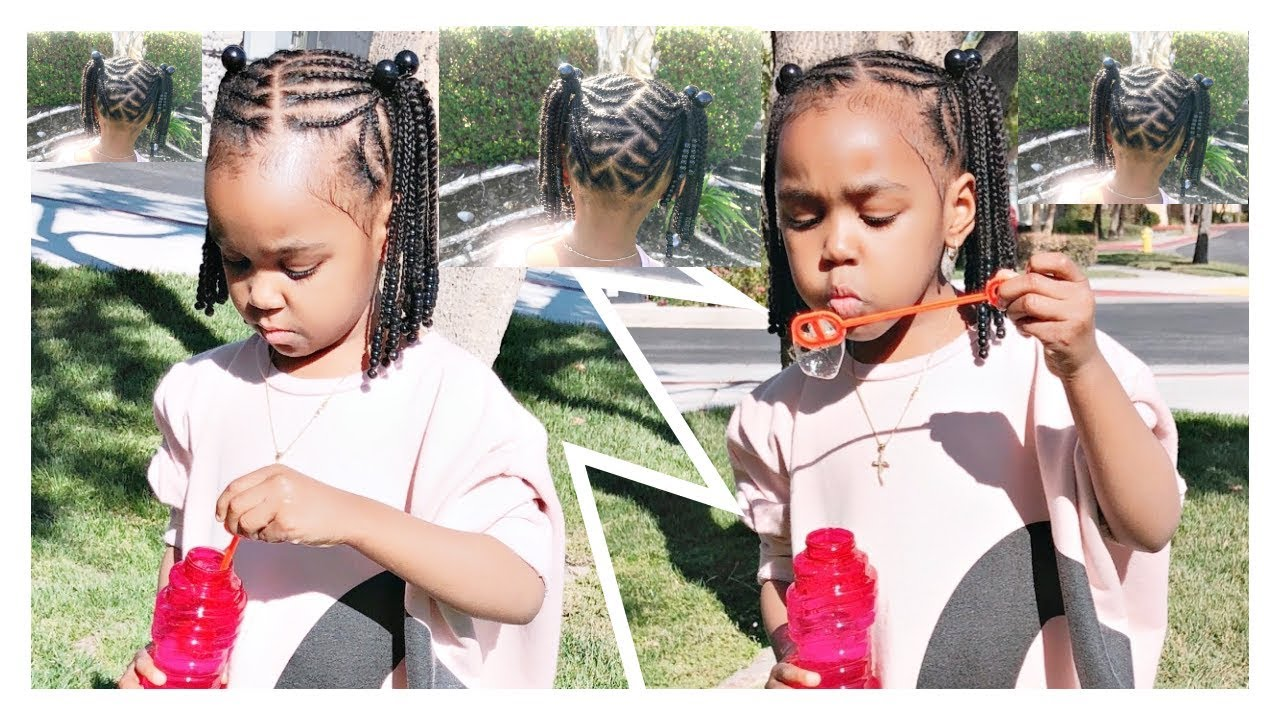 Braided Ponytails Toddlers Kids Natural Hair No Weave
