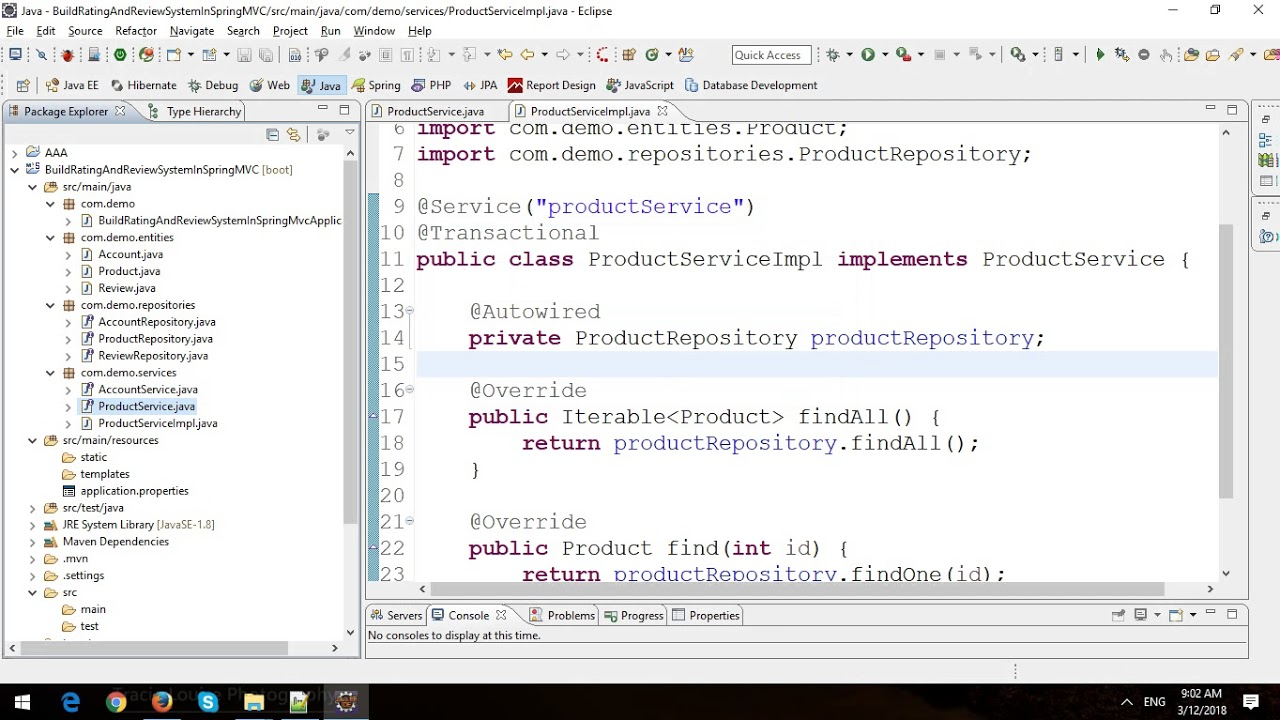 how to build website with spring mvc