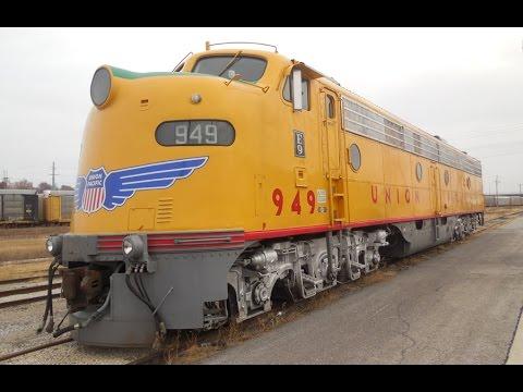 Union Pacific's EMD E9 #949 with GP60 #2012