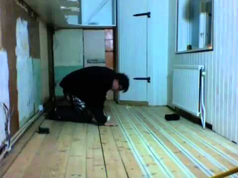 Filling Cracks In Wood Floor Youtube