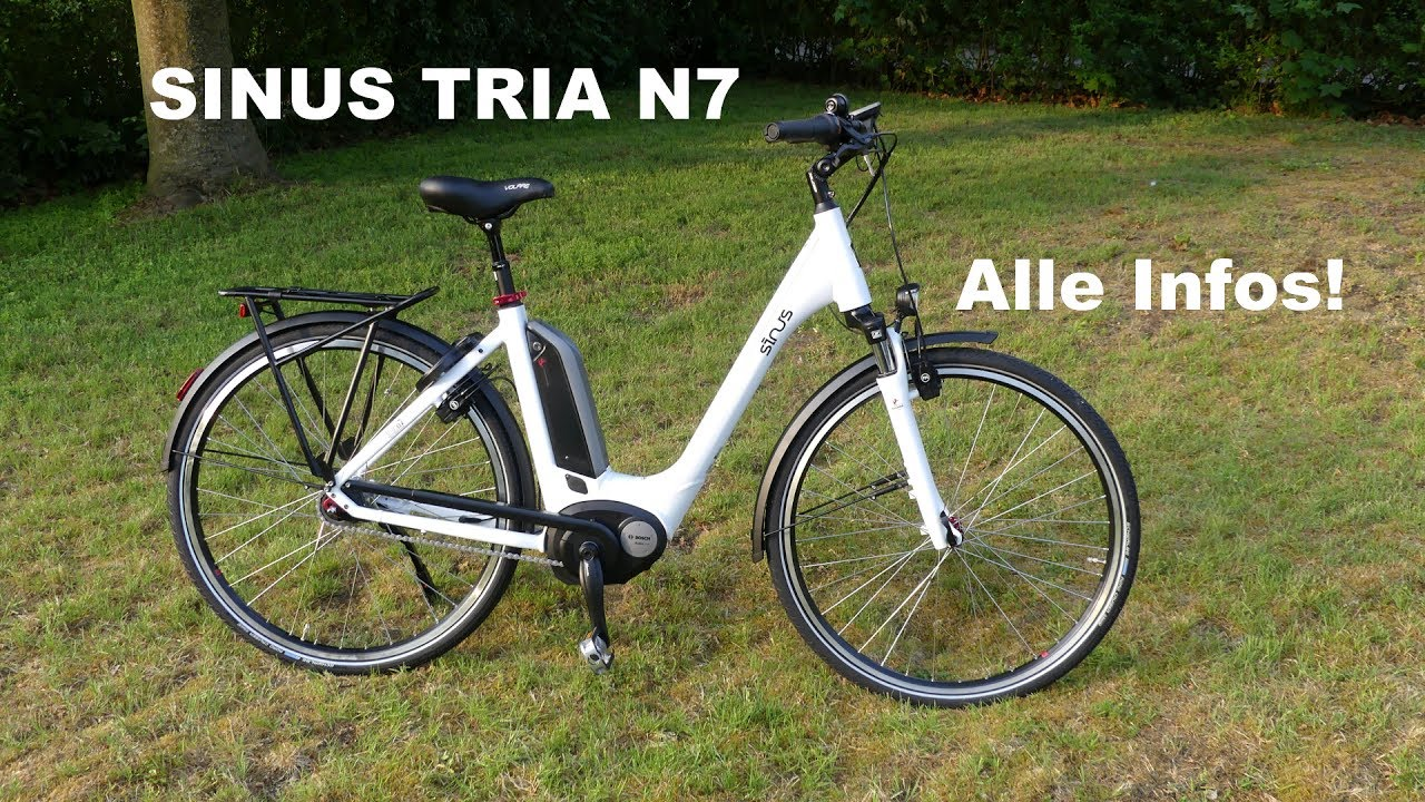 sinus tria n 7 e bike bosch mittelmotor youtube. Black Bedroom Furniture Sets. Home Design Ideas