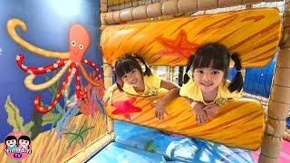 หนูยิ้มหนูแย้ม   เล่นสวนสนุกฮาร์เบอร์พัทยา Indoor Playground