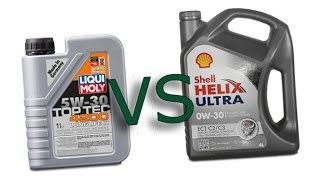 Liqui moly 5W30 Top tec 4200 Longlife III vs Shell Helix Ultra 0W30 ECT cold oil test -24°C