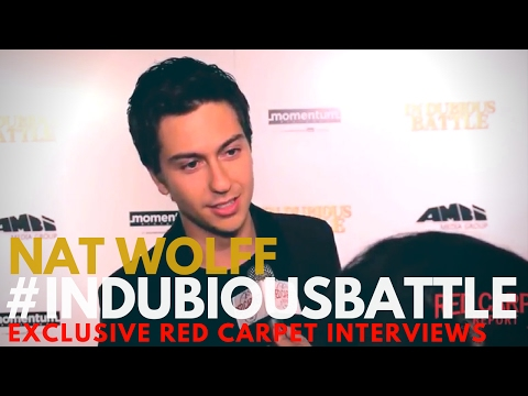 Nat Wolff interviewed at the LA Premiere of In Dubious Battle #InDubiousBattle