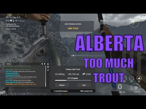 Fishing Planet - First time in Alberta - Unique Lake Trout