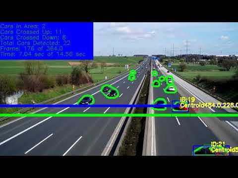 Python OpenCV Traffic Counter