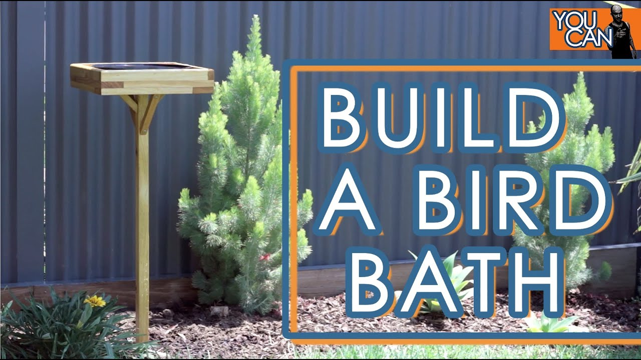 How To Make A Bird Bath - YouTube