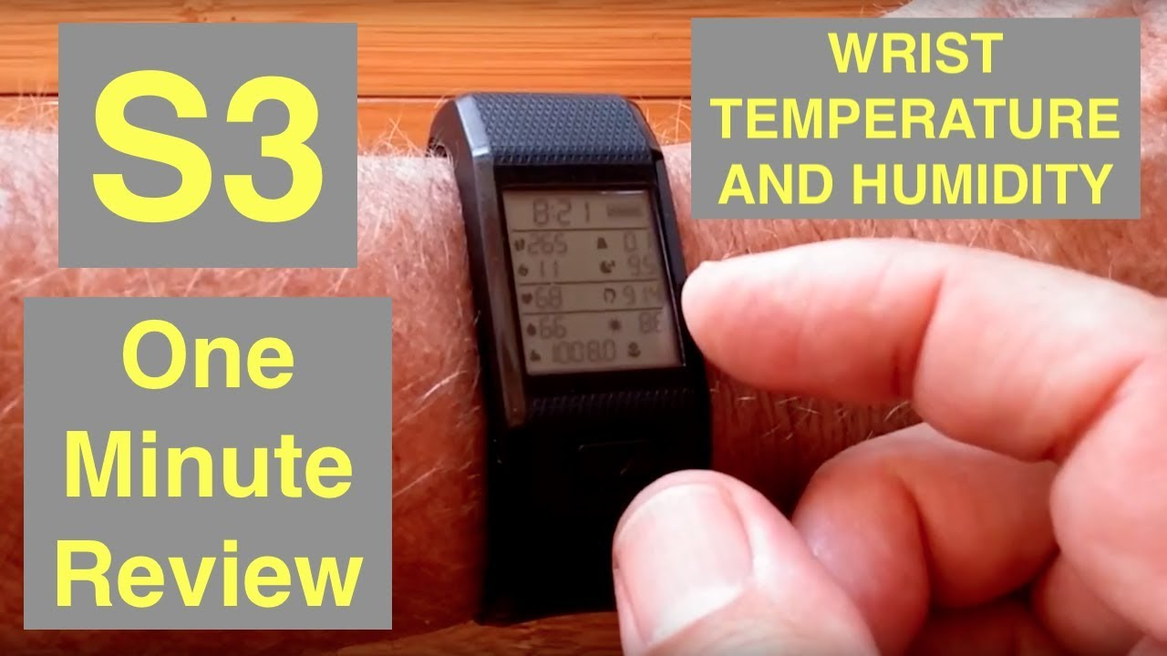 HESVIT S3 Advanced Health/Fitness Band with Wrist Skin Temp, Body Humidity: One Minute Overview