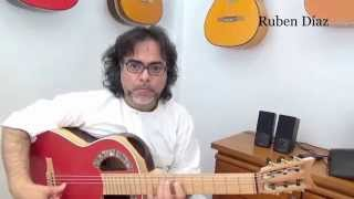 Thumb, improving our tone / Ruben Diaz modern flamenco guitar lessons online Skype learning Spain