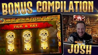 Slots Bonus Compilation inc Lucky Lady Charm 10, Goonies + more