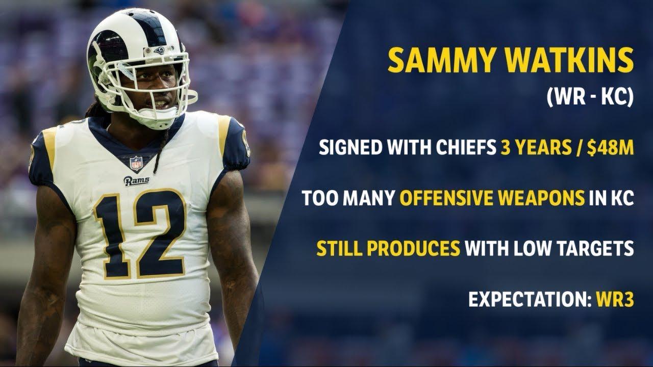 new style 5583f c92af Sammy Watkins to Chiefs: Fantasy Football Impact