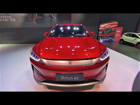2021 BYD Song Plus EV Walkaround—2020 Beijing Motor Show—2021款比亚迪宋Plus EV,外观与内饰实拍
